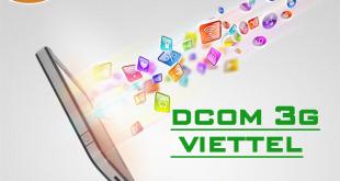 Hướng dẫn đăng ký các gói cước Dcom 3G Viettel Data khủng từ A-Z