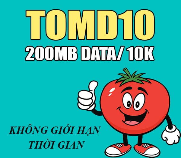 Cách đăng ký gói TOMD10 Viettel nhận 200MB siêu rẻ chỉ 10.000đ