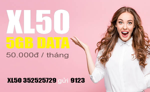 Đăng ký gói XL50 Viettel nhận ưu đãi khủng 5GB giá chỉ 50.000đ
