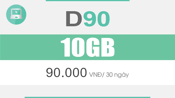 Thông tin gói cước D90 Viettel