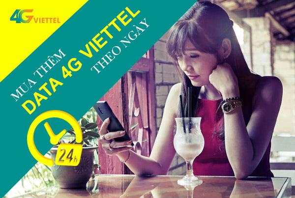 Mua thêm dung lượng 4G Viettel sử dụng theo ngày rất tiện