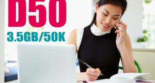 D50 Viettel – Gói cước Dcom ưu đãi 3,5GB Data 1 tháng