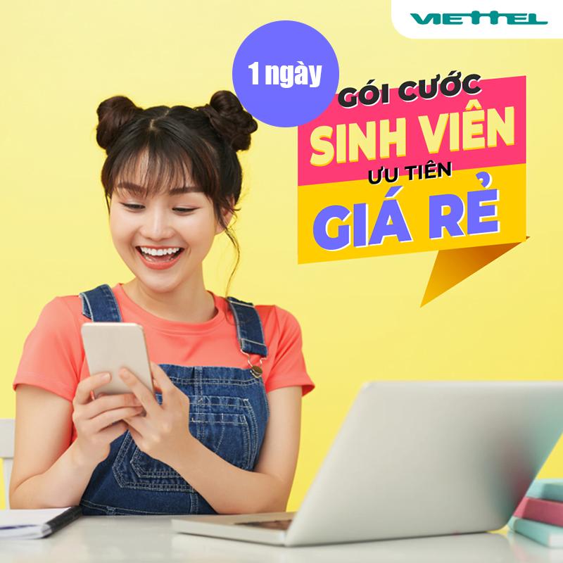 Đăng ký 4G Viettel Sinh Viên 1 Ngày giá rẻ ưu đãi siêu khủng