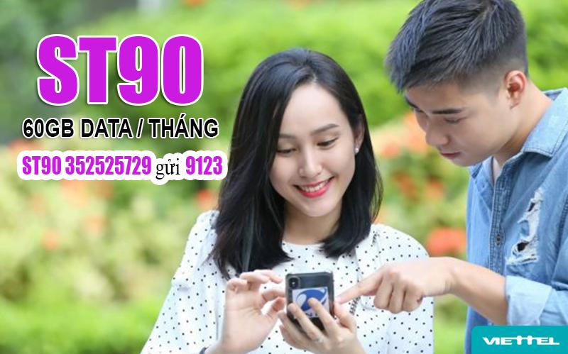 Đăng ký gói Siêu Tốc 90 Viettel - Gói ST90 Viettel ưu đãi 60GB