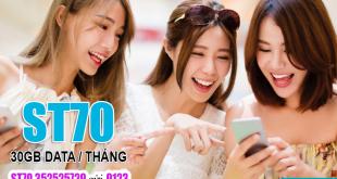 Đăng ký gói ST70 Viettel – Gói SIÊU TỐC 70 ưu đãi 30GB 1 Tháng