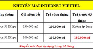 Lắp đặt internet wifi Viettel