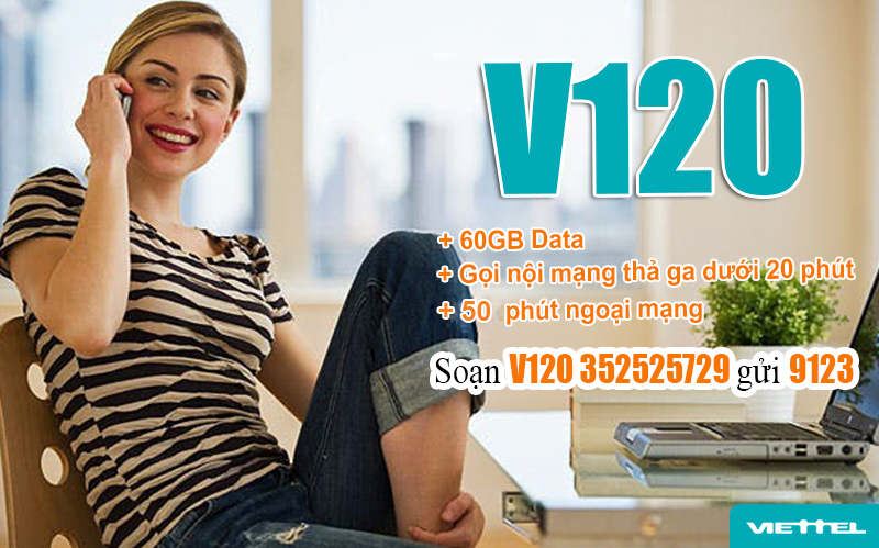 Đăng ký gói V120 Viettel thật dễ dàng