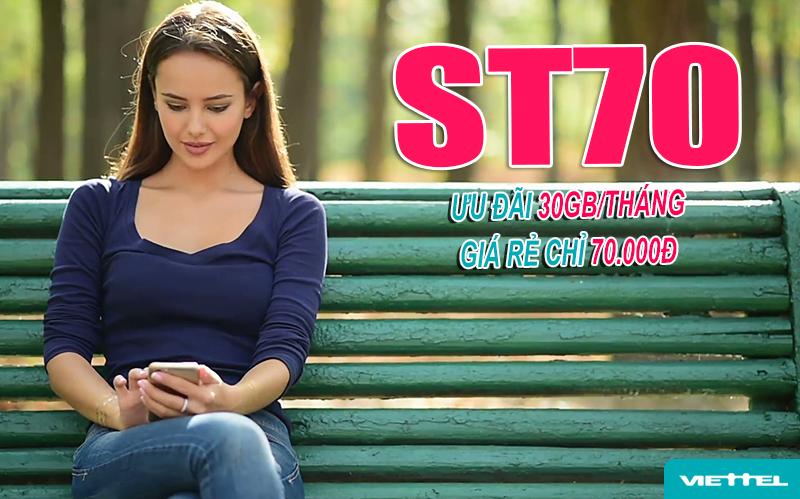 Gói ST70 Viettel ưu đãi 30GB/tháng
