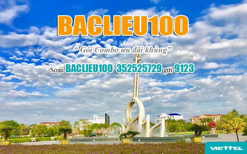 Đăng ký gói BACLIEU100 Viettel dễ dàng bằng tin nhắn
