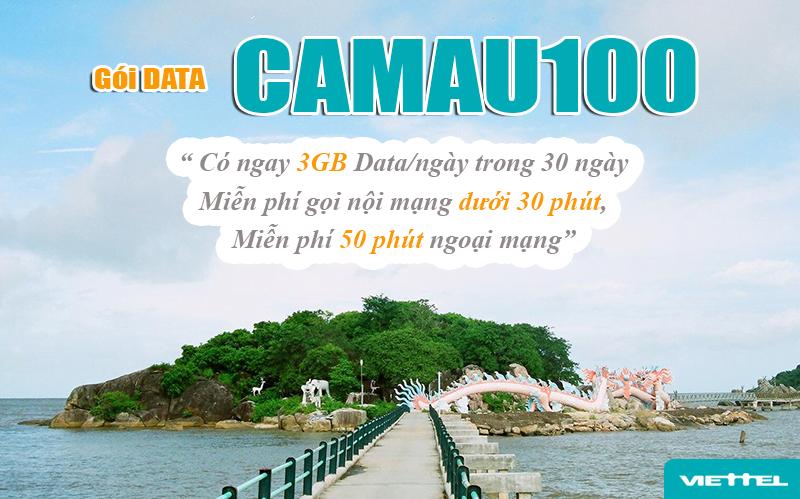 Gói CÀ MAU 100 của Viettel (CAMAU100) ưu đãi khủng
