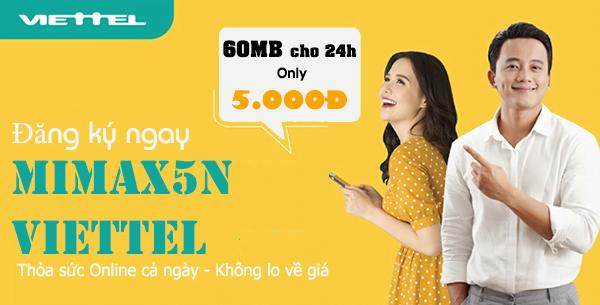 Đăng ký Mimax5N Viettel thỏa sức online cả ngày không lo về giá