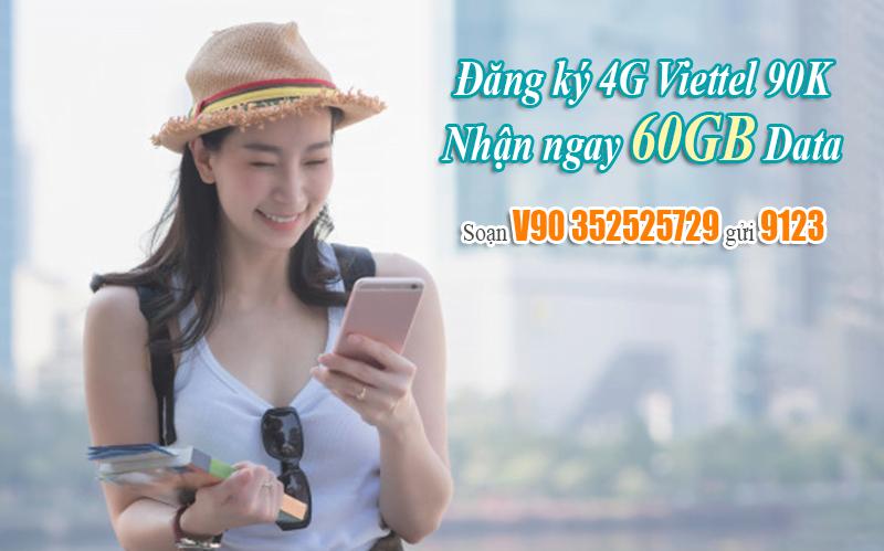 Cách đăng ký 4G Viettel 90k để nhận 60GB
