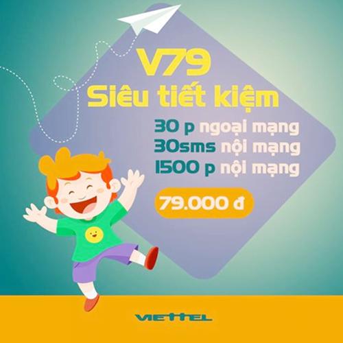 Gói V79 Viettel ưu đãi 1500 phút nội mạng