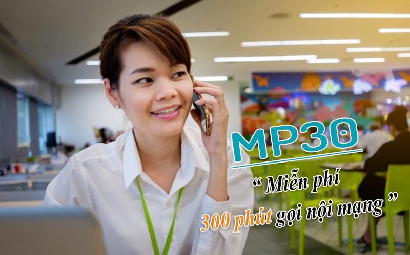 Đăng ký MP30 Viettel gọi nội mạng 300 phút thả ga