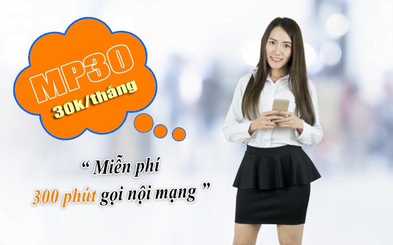 Gói MP30 Viettel miễn phí 300 phút gọi nội mạng