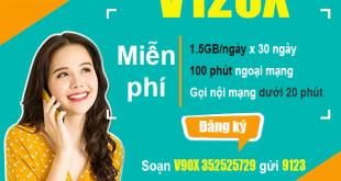 Đăng ký gói V120X Viettel bằng tin nhắn nhận ưu đãi khủng