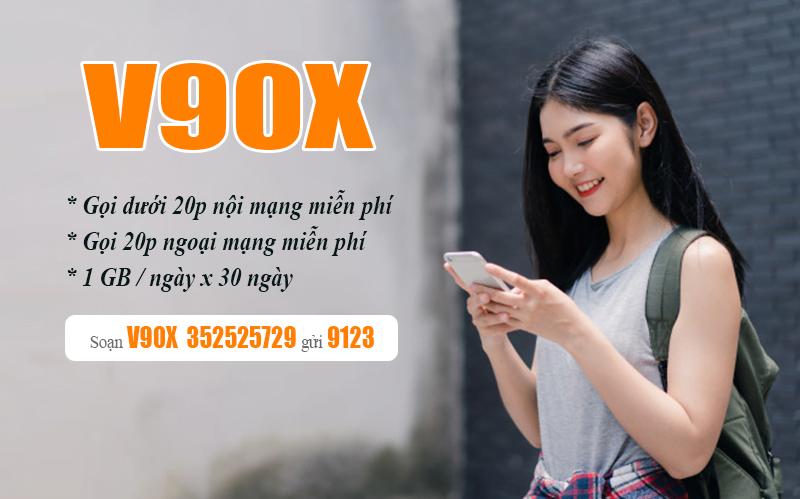 Đăng ký gói cước V90X Viettel có ngay 1GB/ngày & Gọi nội mạng miễn phí dưới 20 phút