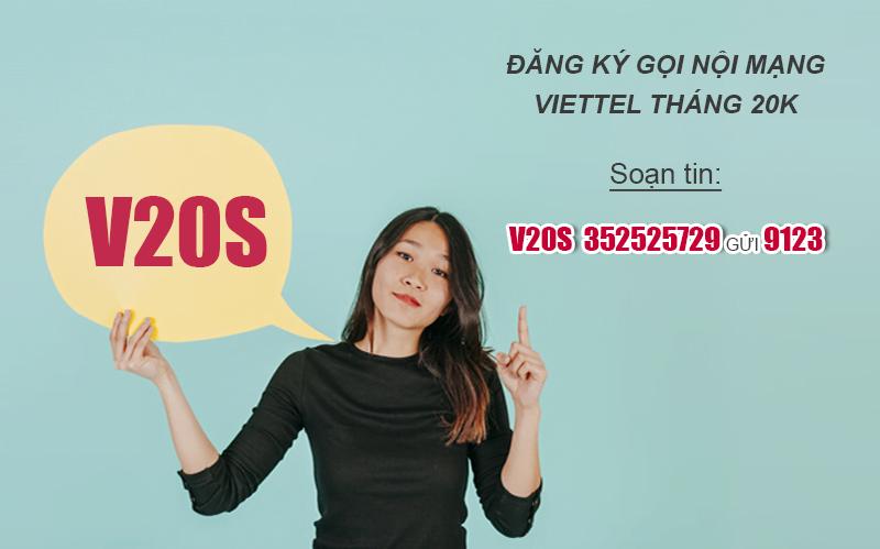 Đăng ký gọi Viettel tháng 20k có 200 phút nội mạng miễn phí