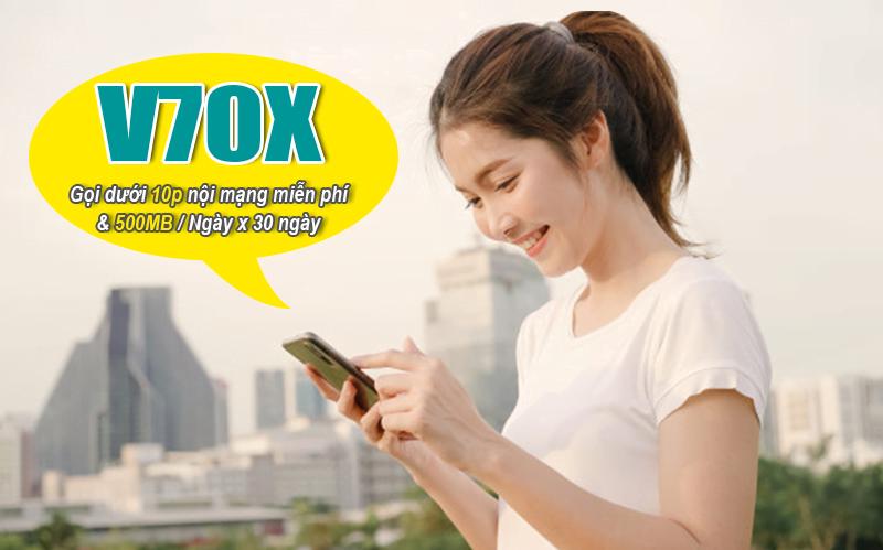 Gói V70X của Viettel ưu đãi 500MB/ngày & gọi nội mạng miễn phí dưới 10 phút