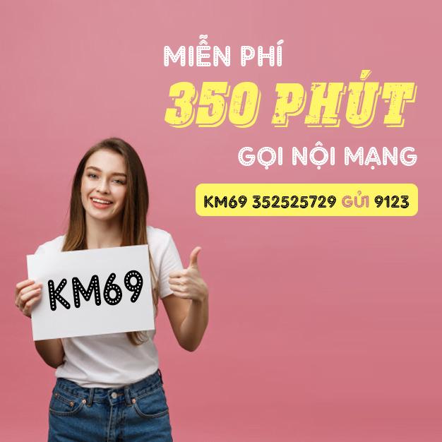 Cách đăng ký 350 phút gọi nội mạng Viettel - KM69 Viettel