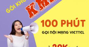 Đăng ký 100 phút gọi nội mạng Viettel giá chỉ 29k 1 tháng