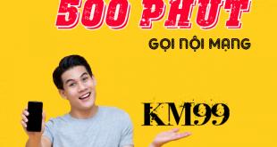 Cách đăng ký gói KM99 Viettel có 500 phút nội mạng chỉ 99k /tháng