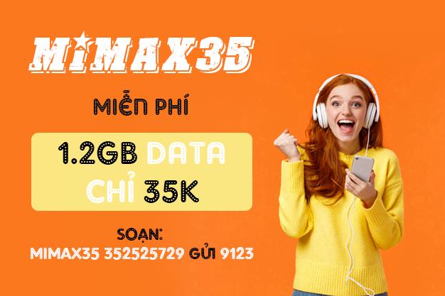 Đăng ký gói Mimax35 Viettel miễn phí 1.2GB chỉ 35k mỗi tháng