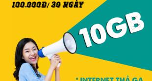 Đăng ký gói XL100 Viettel có ngay 10GB sử dụng 30 ngày