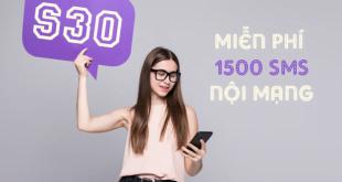 Gói cước S30 Viettel ưu đãi 1500 tin nhắn nội mạng giá chỉ 30k/tháng