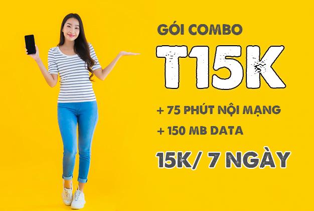Gói T15K Viettel giá chỉ 15k / 7 ngày