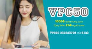 Gói VPC50 Viettel ưu đãi 102GB cho khách hàng tại Vĩnh Phúc