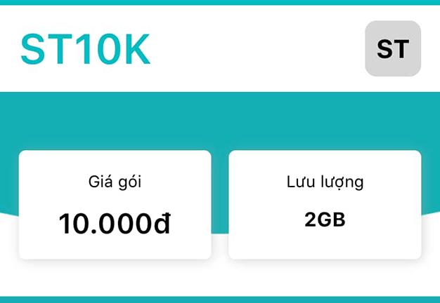 Gói ST10K Viettel miễn phí 2GB Data đến hết 24h cùng ngày đăng ký