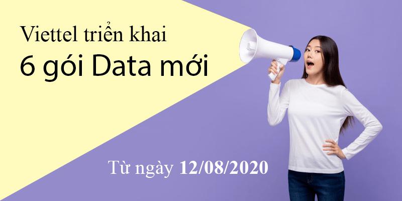 Viettel triển khai 6 gói cước Data mới Siêu Hấp Dẫn từ 12/08/2020