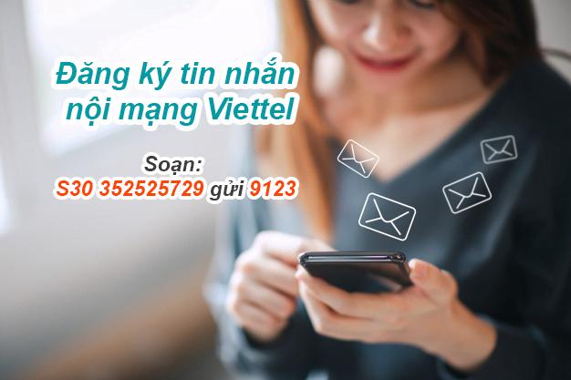 Cách đăng ký tin nhắn Viettel nội mạng giá rẻ 10k, 20k, 30k