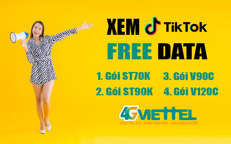 Cách đăng ký xem Tiktok Viettel thả ga không tốn Data