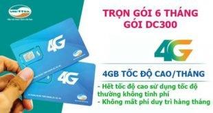 DC300 Viettel - Miễn phí 4GB Data/tháng x 6 tháng giá chỉ 300k