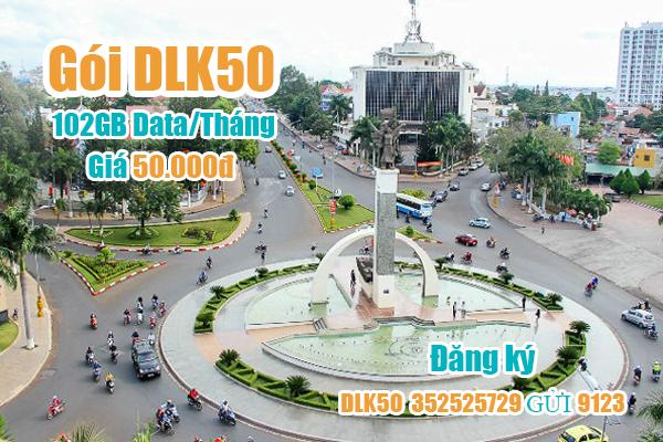 Gói DLK50 Viettel ưu đãi 102GB cho khách hàng tại Đắk Lắk