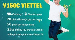Đăng ký gói V150C Viettel có ngay 45GB, gọi nội mạng dưới 20 phút
