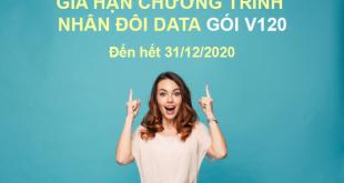 Viettel gia hạn và mở rộng chương trình nhân đôi Data gói V120