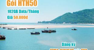 Gói HTH50 Viettel miễn phí 102GB cho khách hàng tại Hà Tĩnh