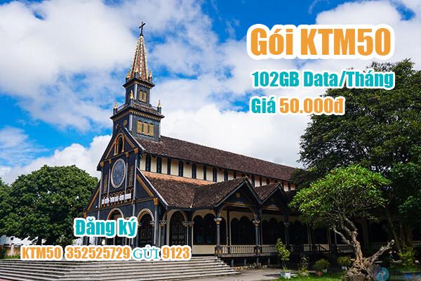 Gói KTM50 Viettel miễn phí 102GB cho khách hàng tại Kon Tum