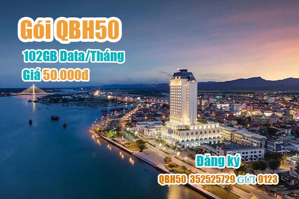 Gói QBH50 Viettel miễn phí 102GB cho khách hàng tại Quảng Bình