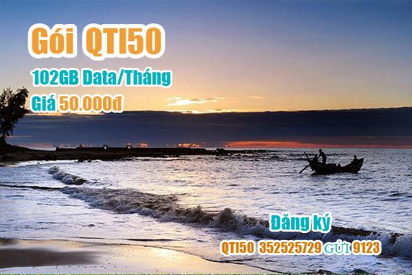 Gói QTI50 Viettel miễn phí 102GB cho khách hàng tại Quảng Trị
