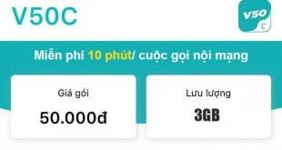 Gói V50C Viettel miễn phí 2GB & Gọi nội mạng dưới 10 phút