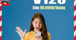 Giảm giá gói V120 còn 90.000đ cho khách hàng tại Cần Thơ, HCM