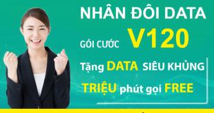 Gia hạn nhân đôi Data gói V120 đến hết 30/06/2021 tại các tỉnh theo danh sách