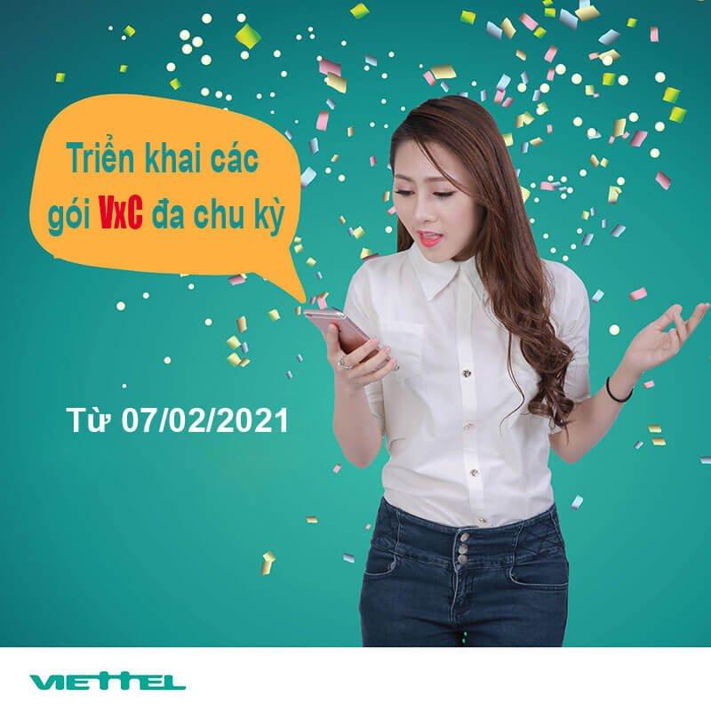 Từ ngày 7/7/2021, Viettel triển khai các gói Combo VxC đa chu kỳ