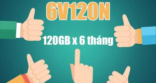 Gói 6V120N Viettel miễn phí 120GB/Tháng trong 6 tháng giá 720k