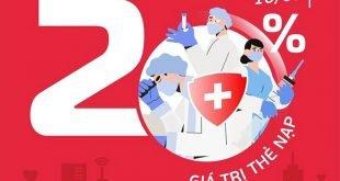 Ngày 10/09/2021, Viettel khuyến mại 20% tất cả các mệnh giá thẻ nạp